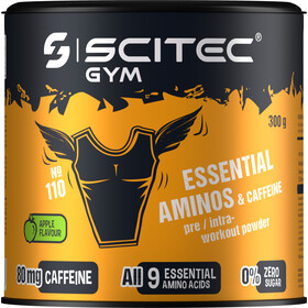 SCITEC Essential Amino & Caffeine Workout Powder 300g, Apple